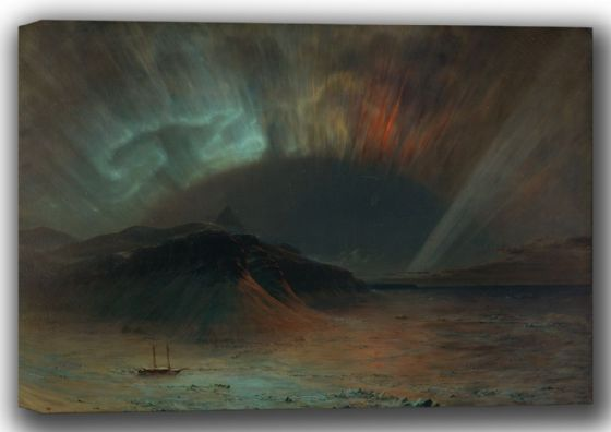 Church, Frederic Edwin: Aurora Borealis. Fine Art Canvas. Sizes: A4/A3/A2/A1 (001660)